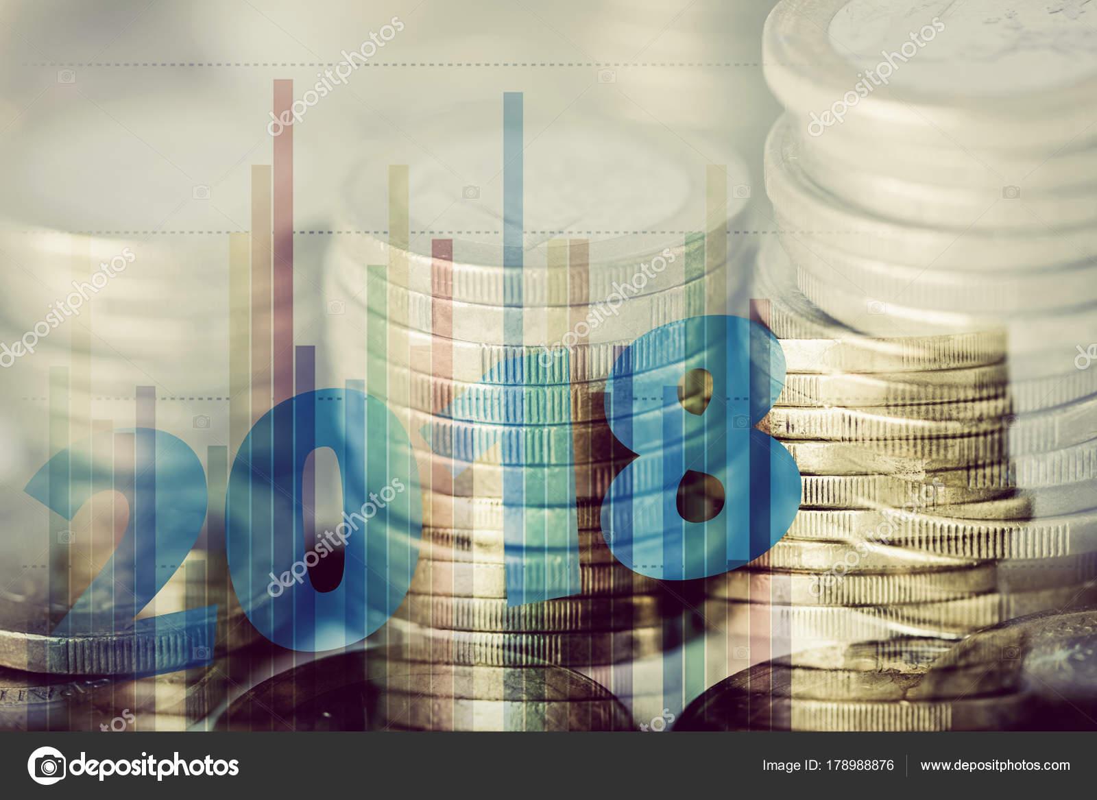 Euro Münzen Und Anzahl 2018 Als Das Neue Jahr Stockfoto Nito103