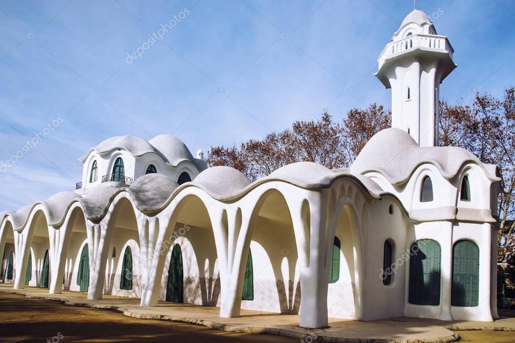 Modernistischen Gebäude Masia Freixa in Terrassa, Spanien