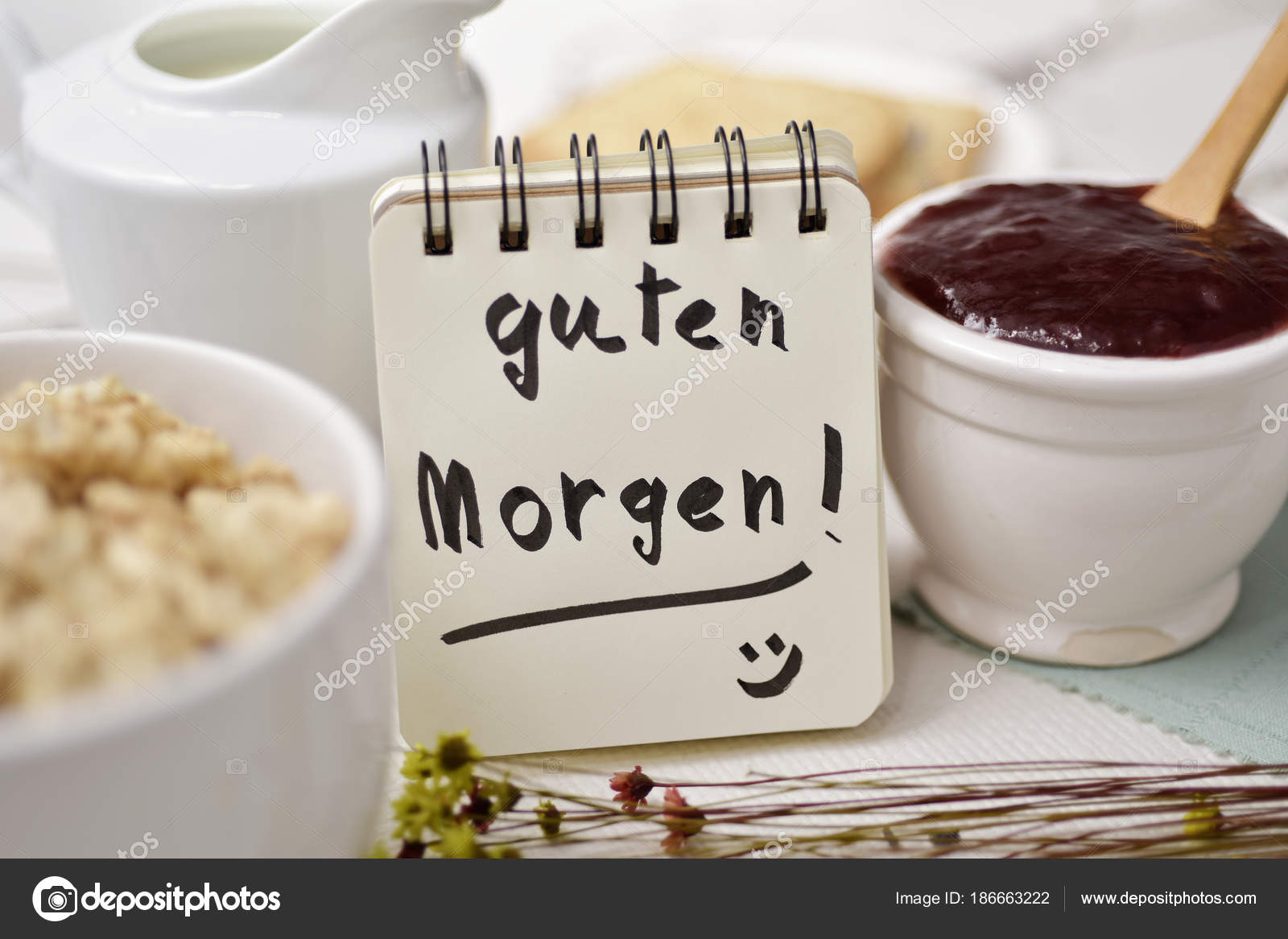Pictures Good Morning In German Breakfast And Text Good
