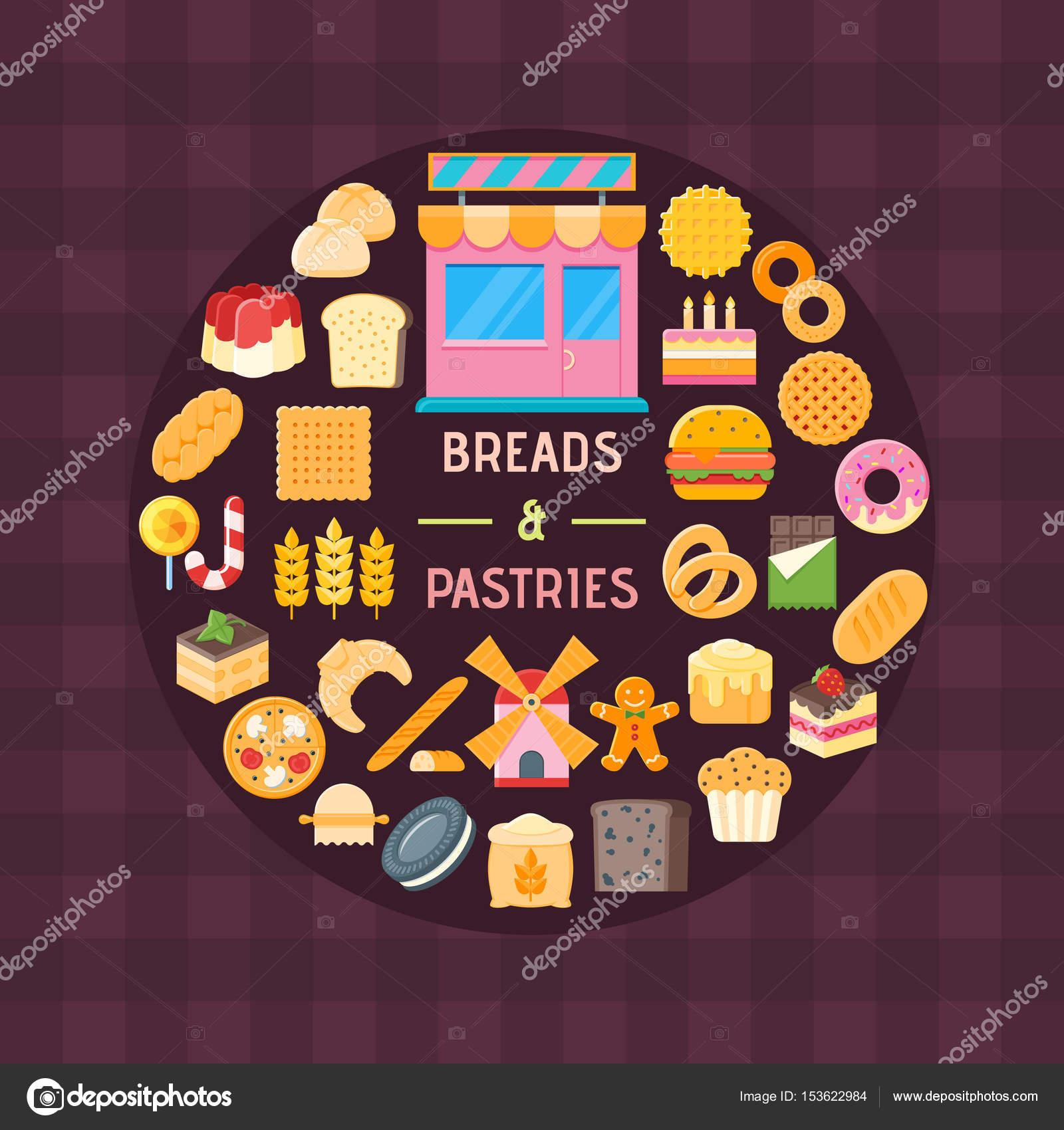 Banner di pane e pasticceria — Vettoriali Stock © Genestro