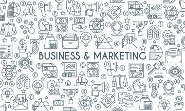 Business and marketing thin linr banner