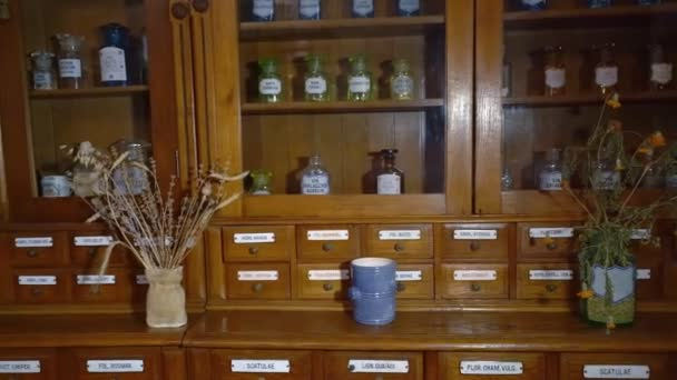 Old Pharmacy Cabinet For Storage Of Medicines. Furniture Of The 19Th  Century. U2014 Stock