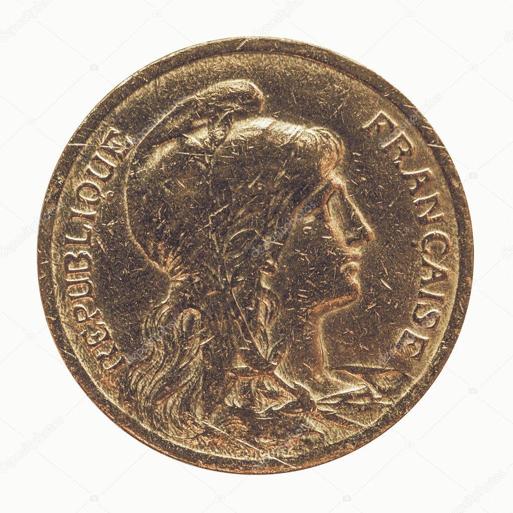 Vintage Alte Französische Münze Stockfoto Claudiodivizia 126182582