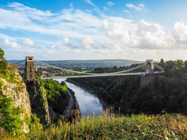 HDR Clifton Suspension Bridge in Bristol