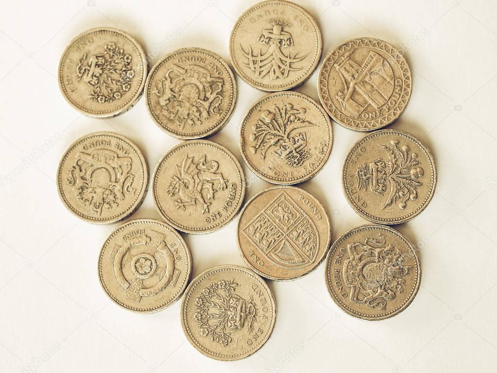 Vintage Britische Pfund Münze Stockfoto Claudiodivizia 129176536