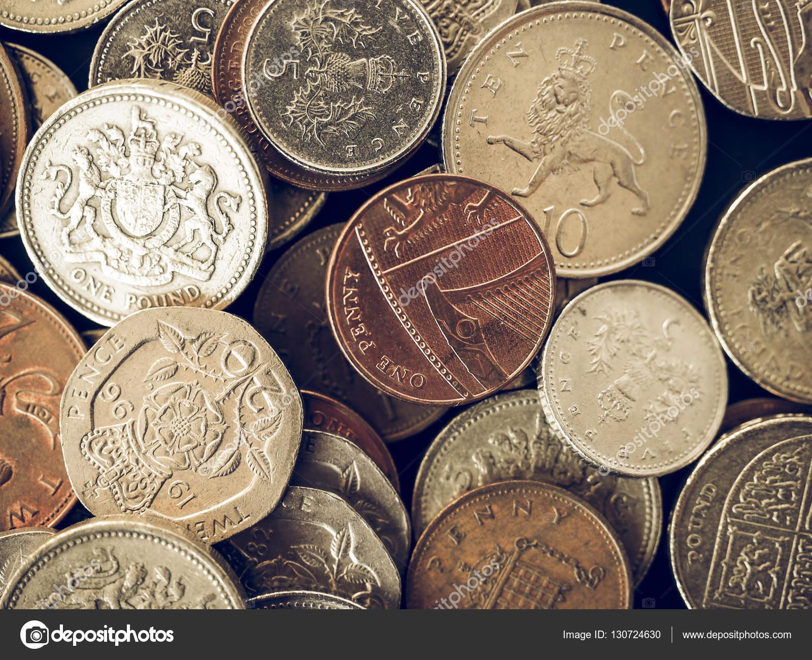 Vintage Britische Pfund Münze Stockfoto Claudiodivizia 130724630