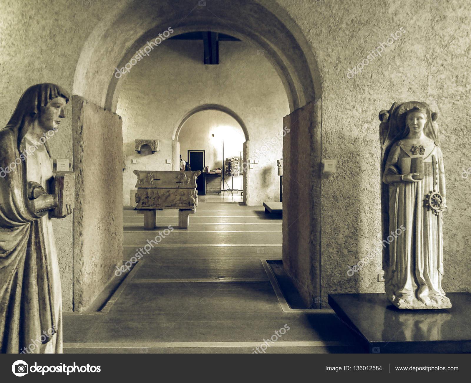 Museo Di Castelvecchio.Museo Di Castelvecchio In Annata Di Verona Desaturato Foto