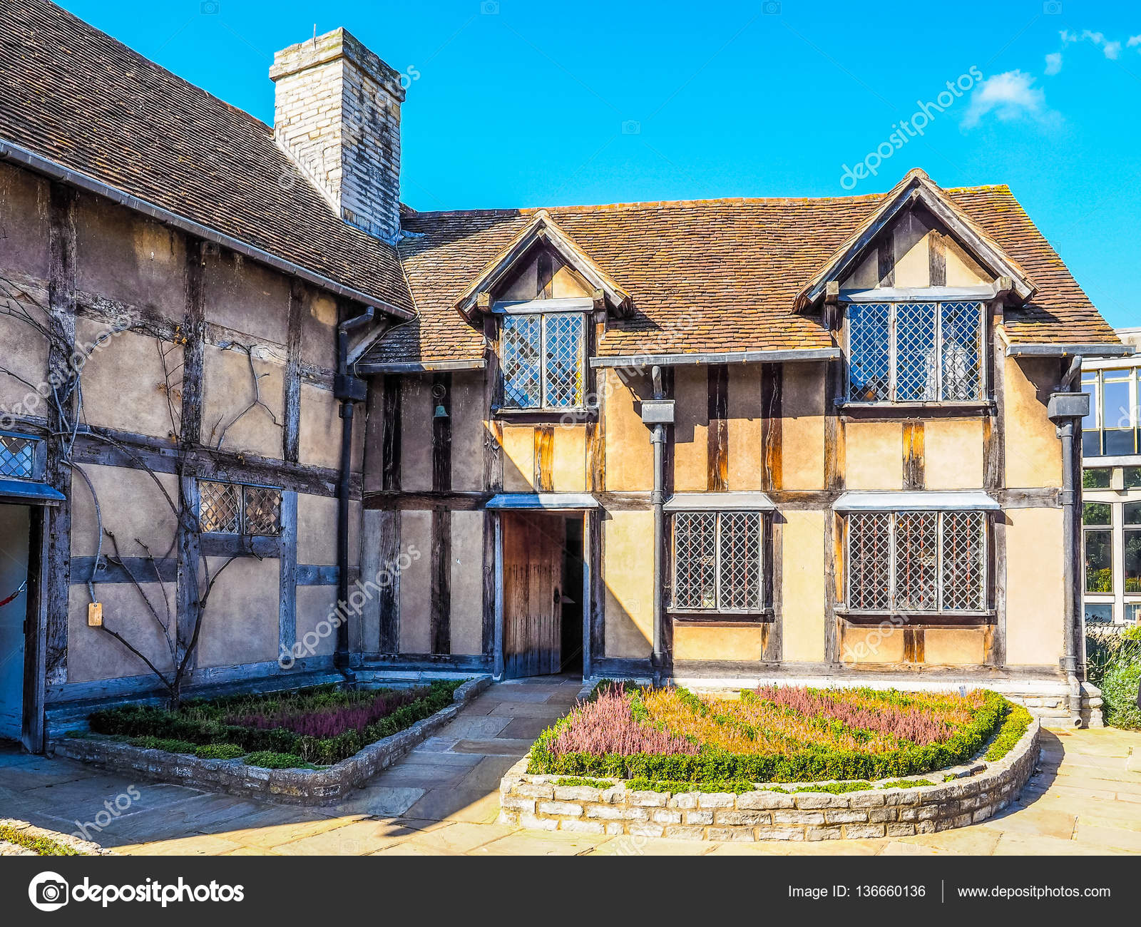 Shakespeare Birthplace In Stratford Upon Avon HDR Stock Photo