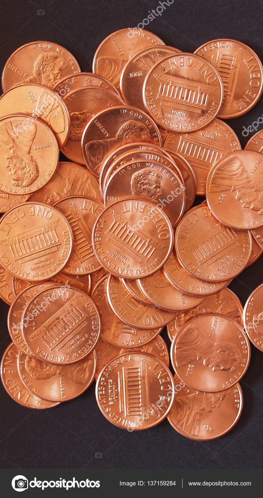 Dollar coins 1 cent wheat penny cent — Stock Photo © claudiodivizia