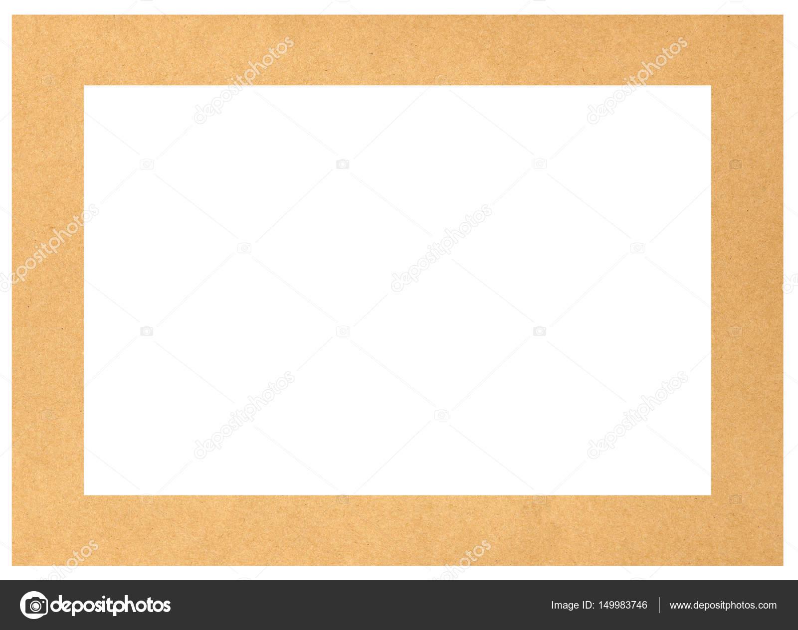 braune Papprahmen mit Textfreiraum — Stockfoto © claudiodivizia ...