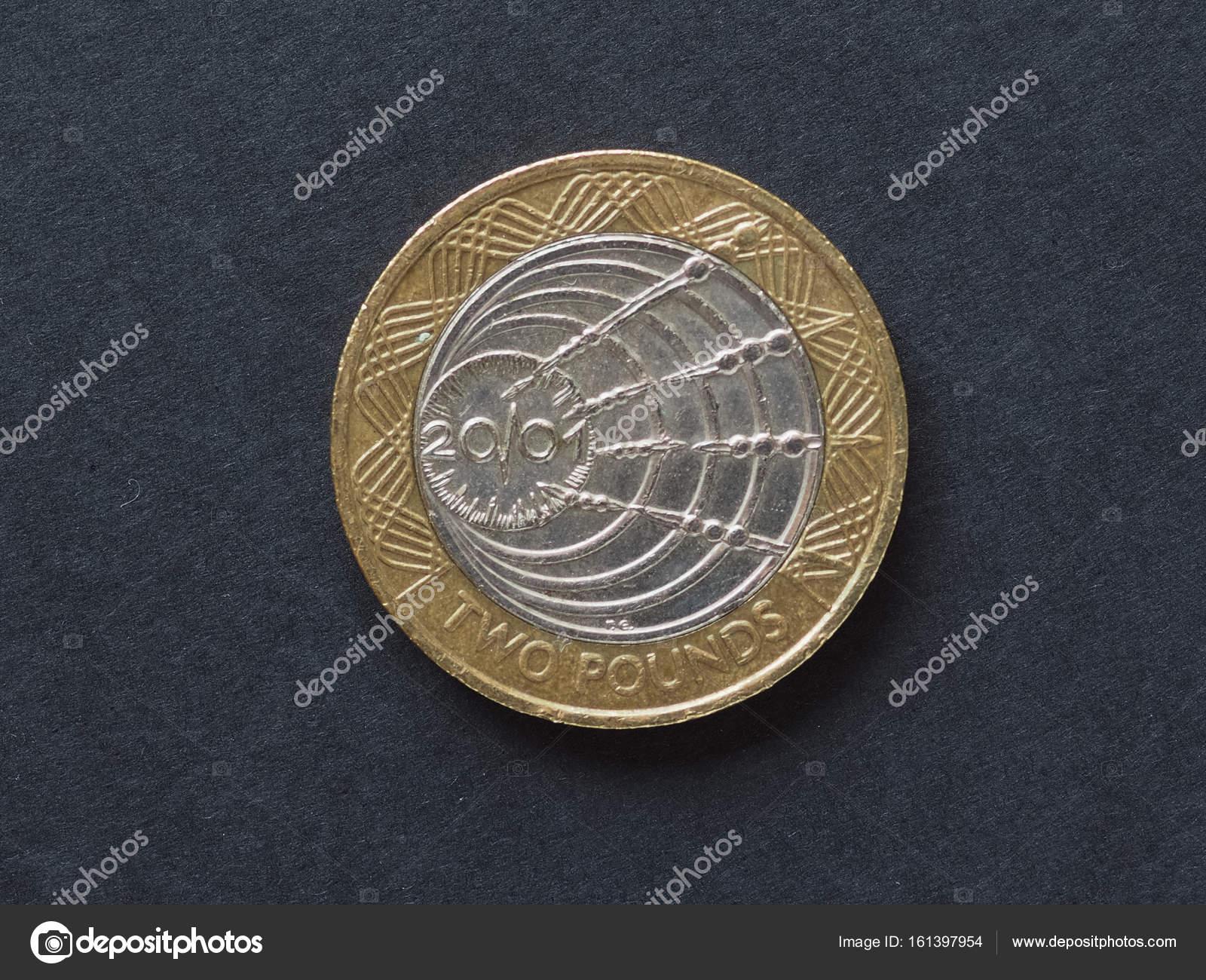 2 Pfund Münze Vereinigtes Königreich Stockfoto Claudiodivizia