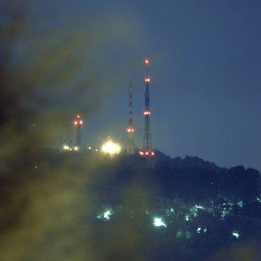 RAI TV antennas in Turin