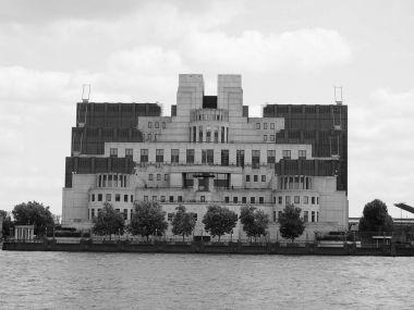 British Secret Service in London black and white