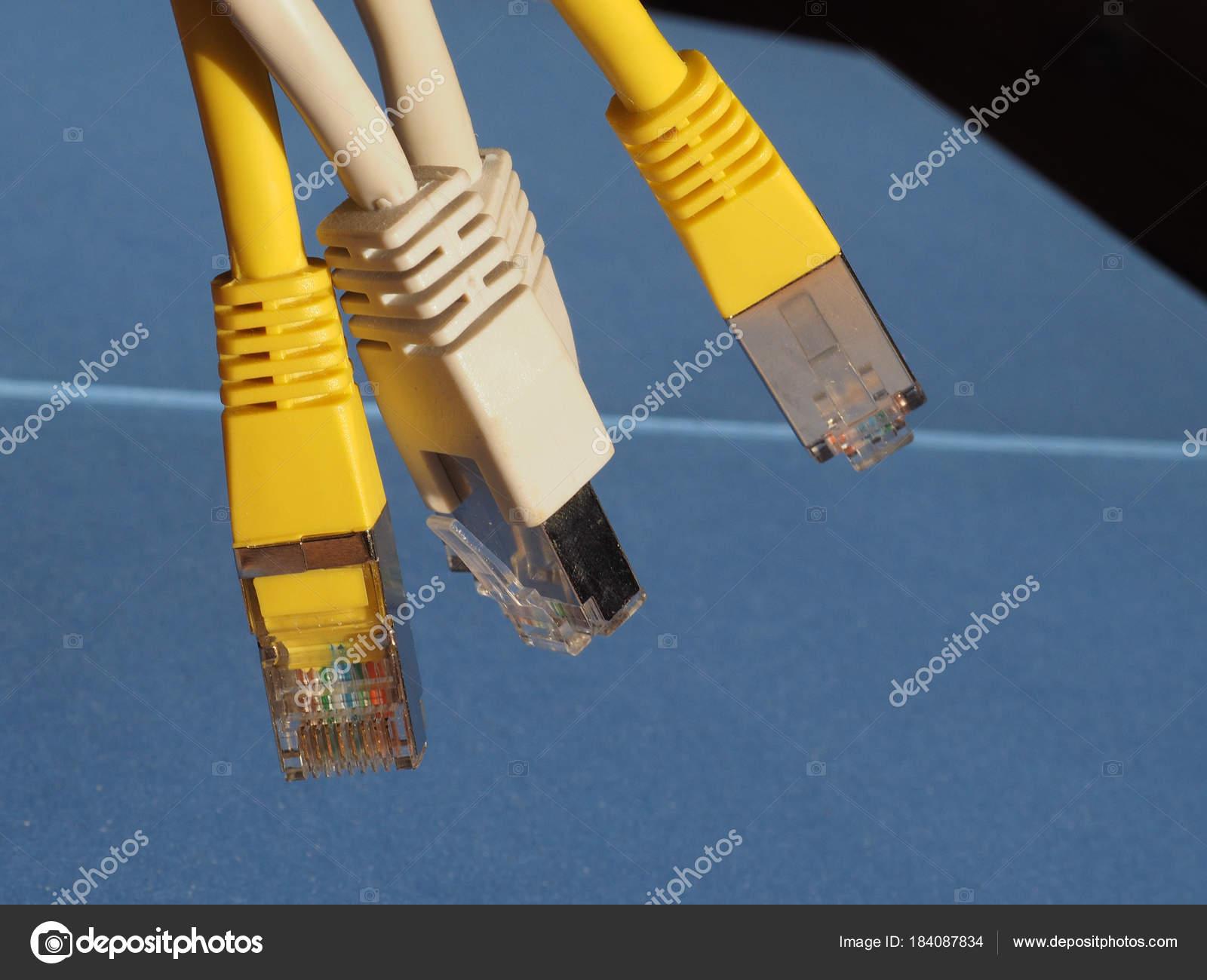 RJ45 ethernet plug — Stock Photo © claudiodivizia #184087834