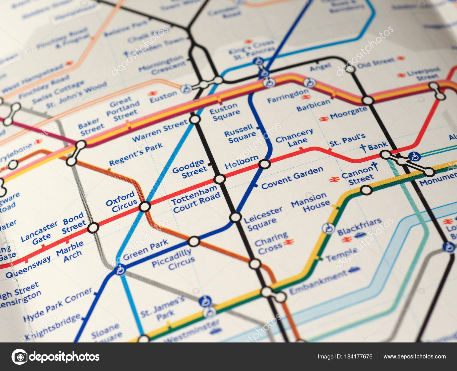 London Stations Map.Map Of London Underground Stock Photo C Claudiodivizia 184177676