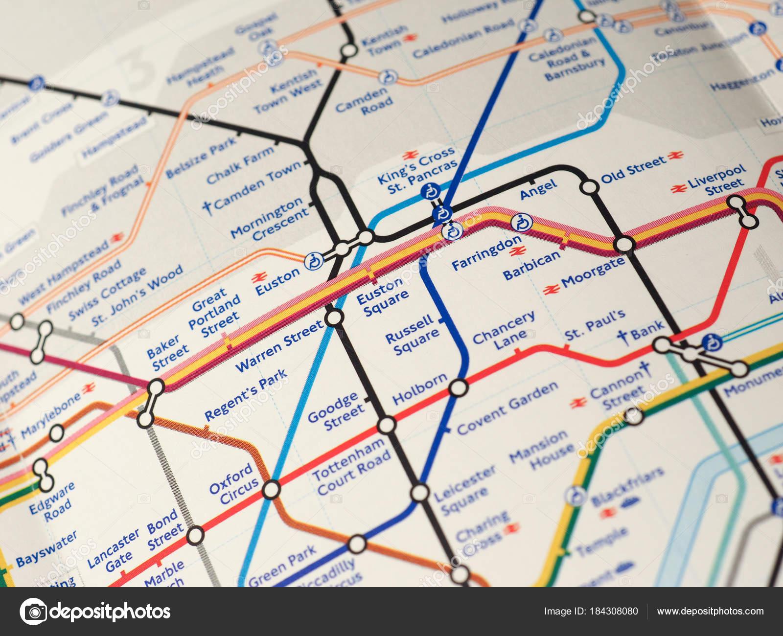 London Subway Map Russell Station.Map Of London Underground Stock Editorial Photo C Claudiodivizia