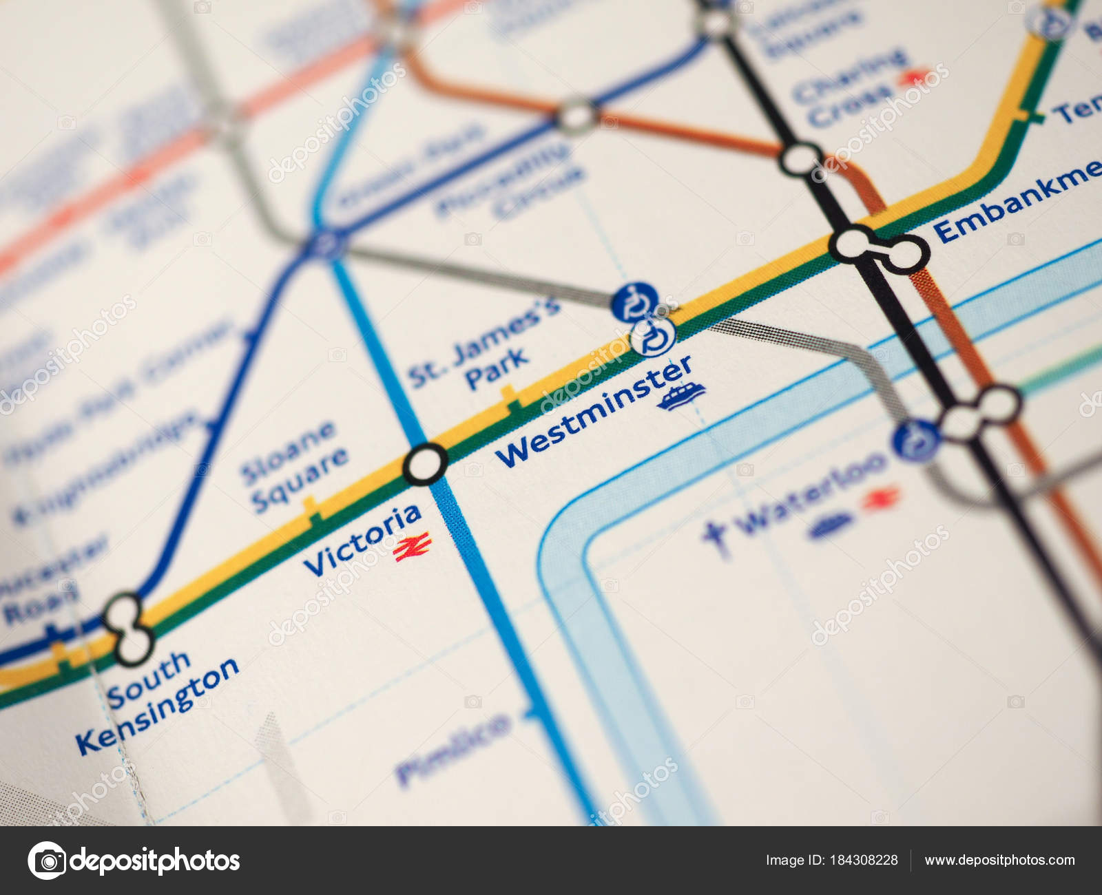 London Stations Map.Map Of London Underground Stock Editorial Photo C Claudiodivizia