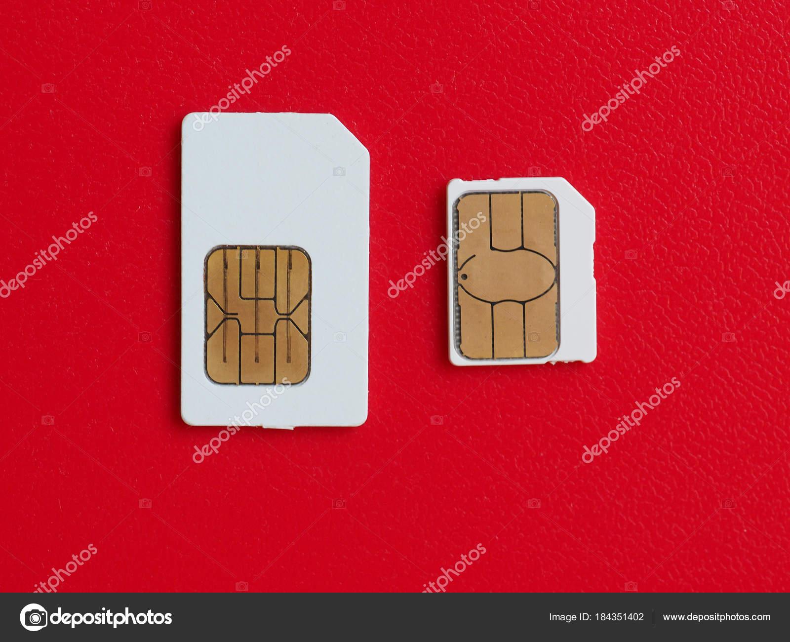 Karta Sim I Usim Uzywane W Telefonach Zdjecie Stockowe