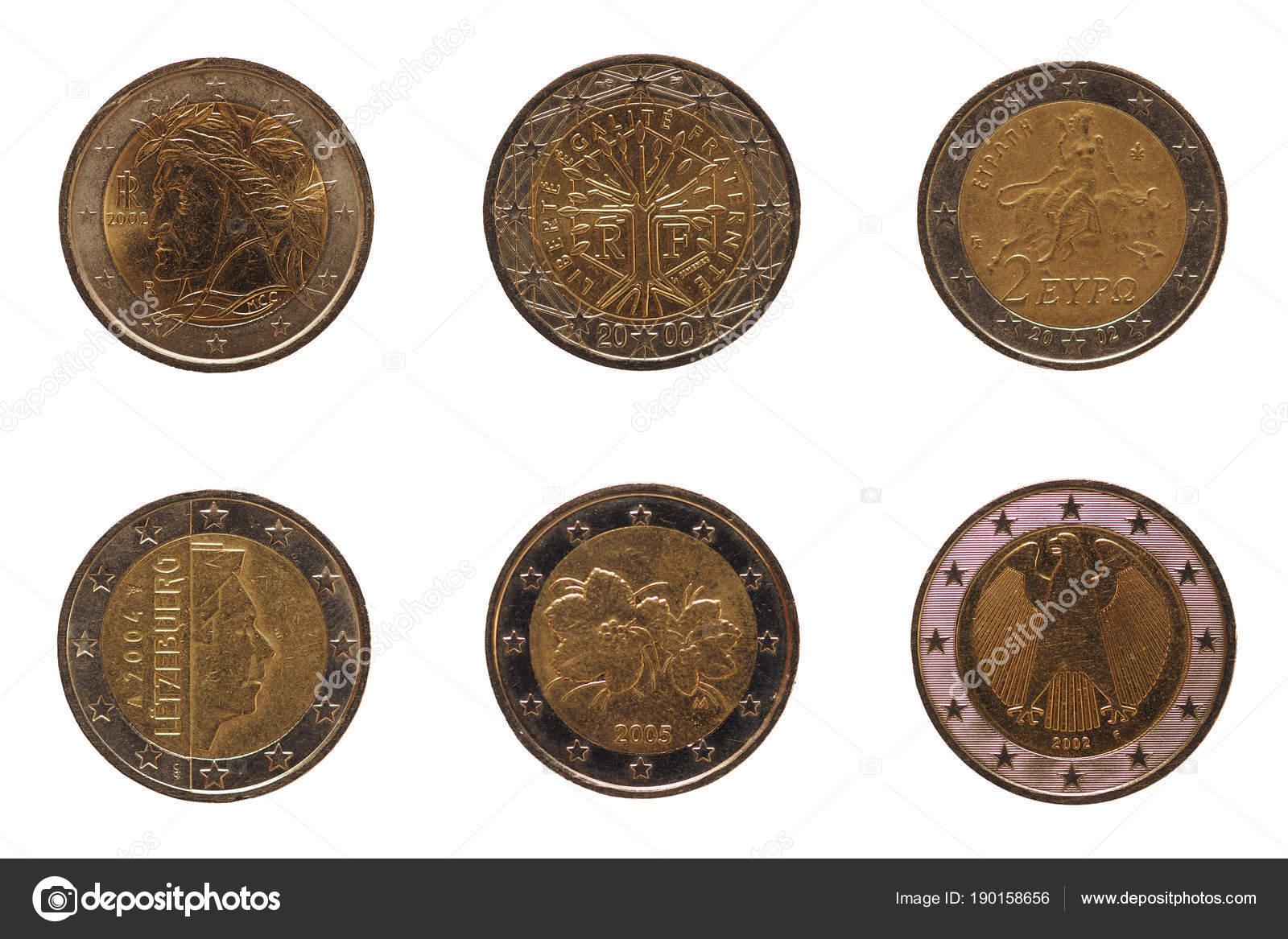Viele 2 Euro Münze Europäische Union Stockfoto Claudiodivizia
