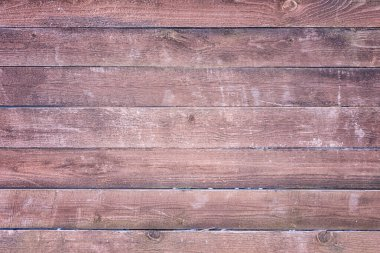 Old wooden fence of brown color. Background with texture of horizontal boards