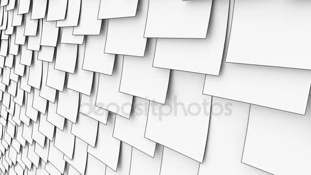 Cartoon Sticky Post It Notes On The Wall Office Paper Work Or Memo