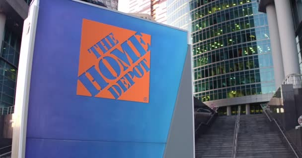 Street Signage Board With The Home Depot Logo Modern Office Center