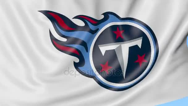 Close Up Of Waving Flag With Tennessee Titans Nfl American Football
