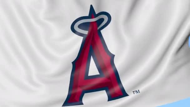 Primer plano de la bandera con el logo del equipo Los Angeles Angels de Anaheim  Mlb béisbol 586ffd76bdf