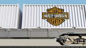 Železniční přeprava kontejnerů s logem Harley-Davidson, vč. Úvodník 3d vykreslování