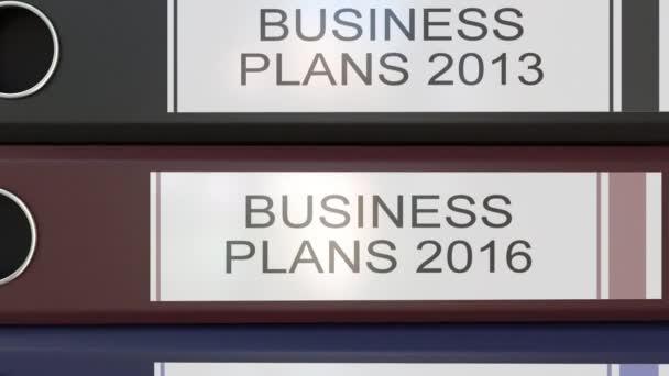 Vertikální zásobník vícebarevná úřadu pořadačů s Business plány značky různé roky