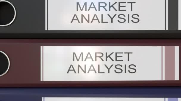 Vertikální zásobník vícebarevná úřadu pořadačů s analýzou trhu značky různé roky