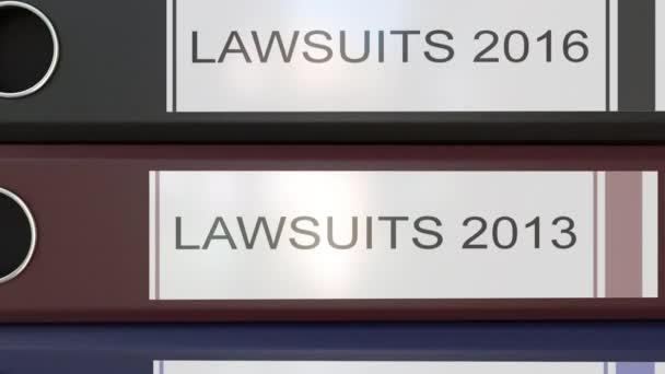 Vertikální zásobník vícebarevná úřadu pořadačů s žalob značky různé roky