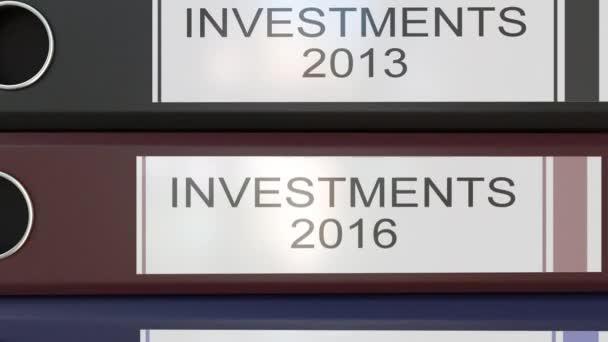Vertikální zásobník vícebarevná úřadu pořadačů s investicemi Tagy různé roky