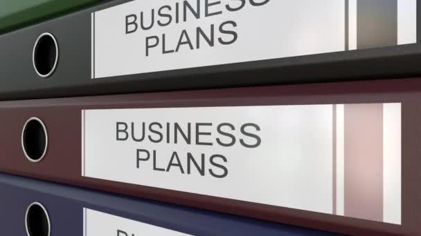 Úřad pořadače s Business plány značky různé roky