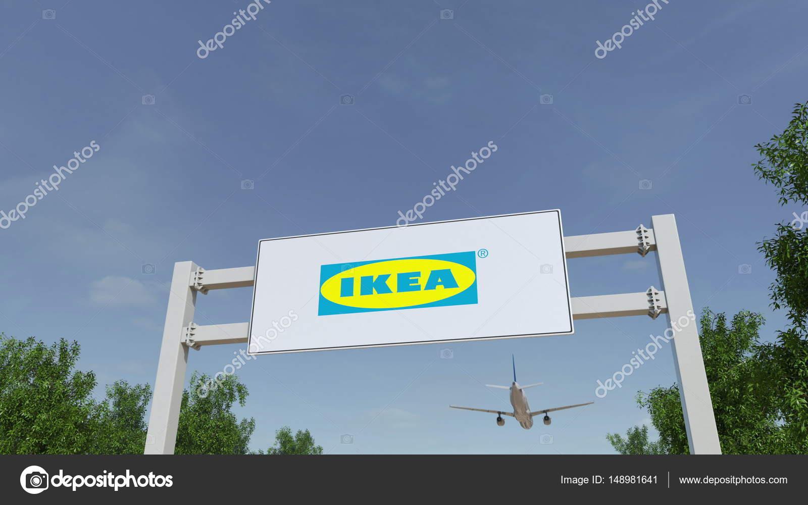 Avion Survolant Publicit Anglo Saxon Avec Logo Ikea Ditorial De  # Ikea Annonce Publicite