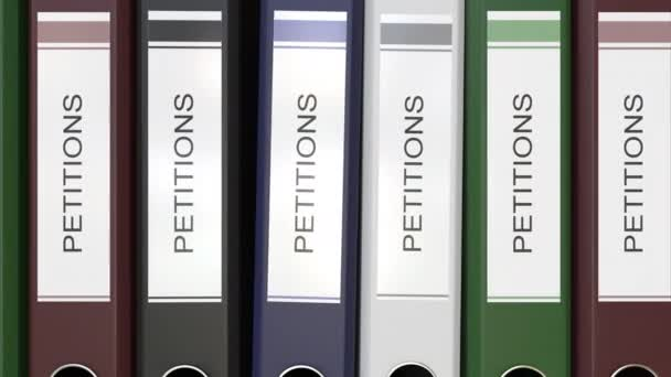 Multiple Office Folders With Petitions Text Labels 3D Rendering