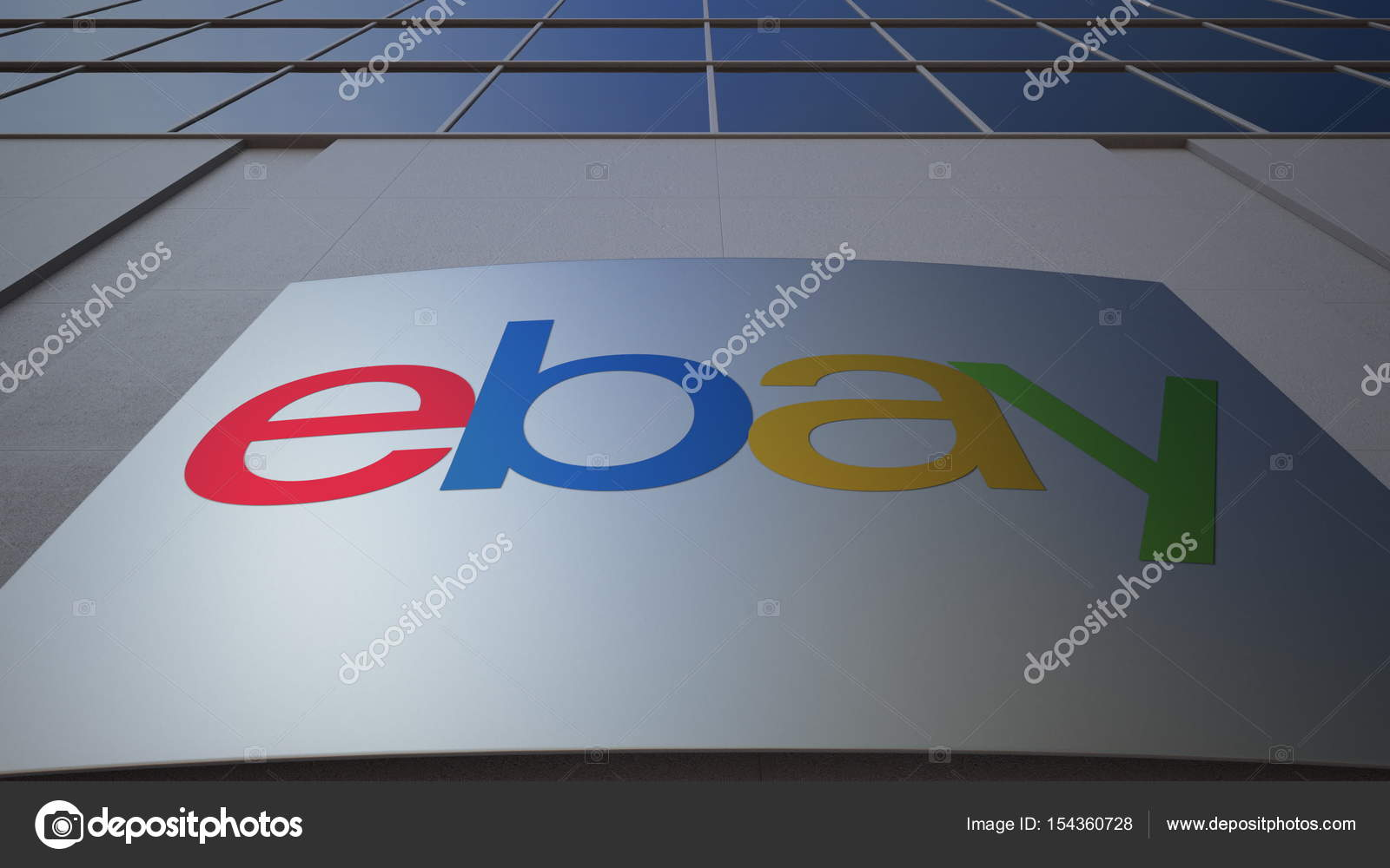 Outdoor Signage Board With Ebay Inc Logo Modern Office Building