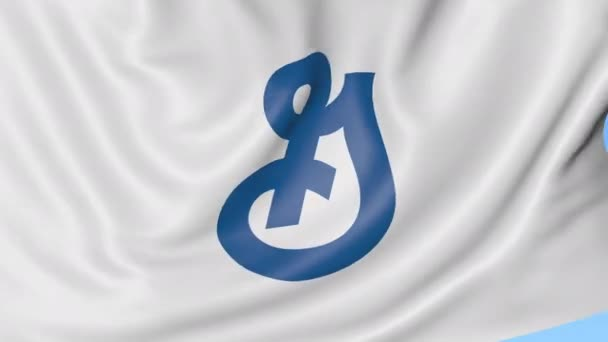 Waving Flag With General Mills Logo Seamles Loop 4k Editorial