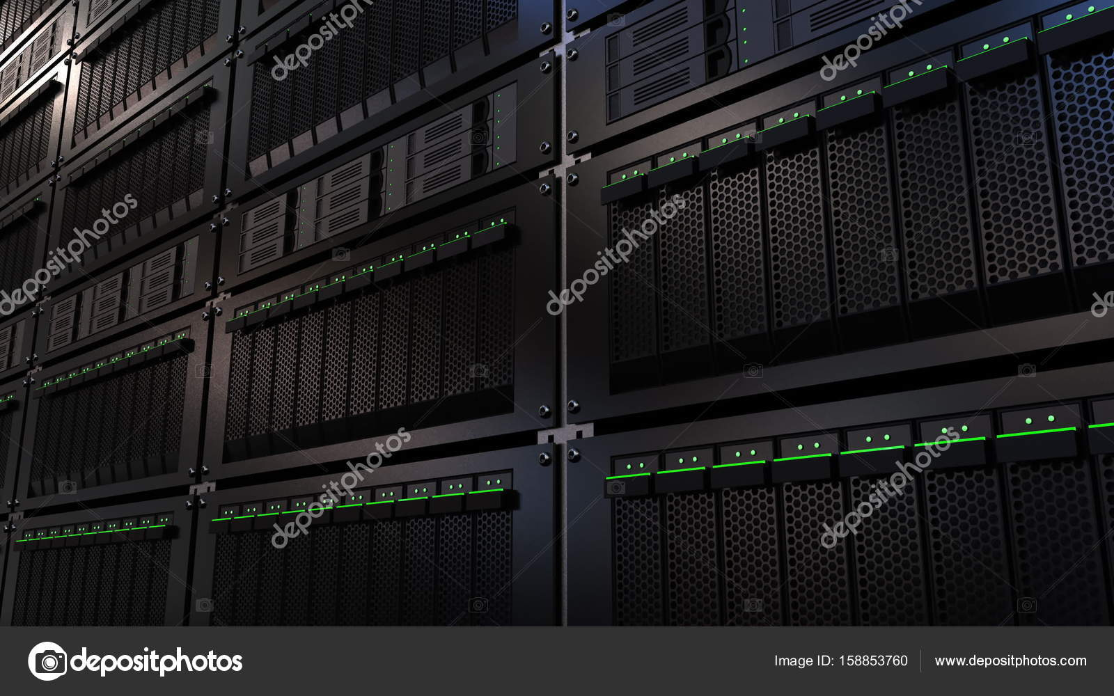 server in center photo woman download engineer now young rack data fix stock image racks it problem between the