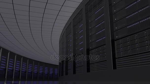 Zimmer Serverschränke. Nahtlose Schleife Bewegung Hintergrund. It ...