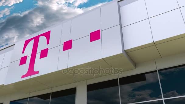 T Mobile Logo Auf Die Moderne Gebäude Fassade Redaktion 3d