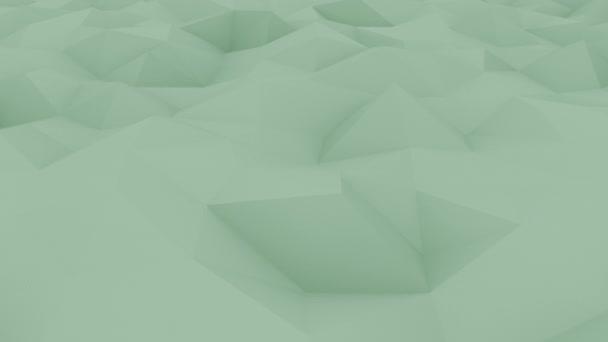 Abstraktní polygonální zelený povrch