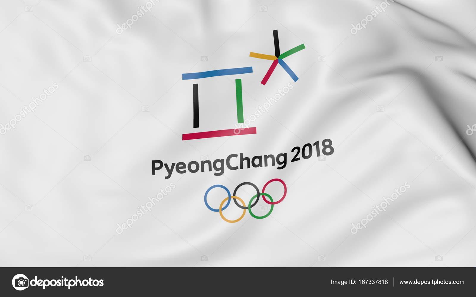 Juegos Olimpicos Logo Bandera Con 2018 Logo De Juegos Olimpicos De