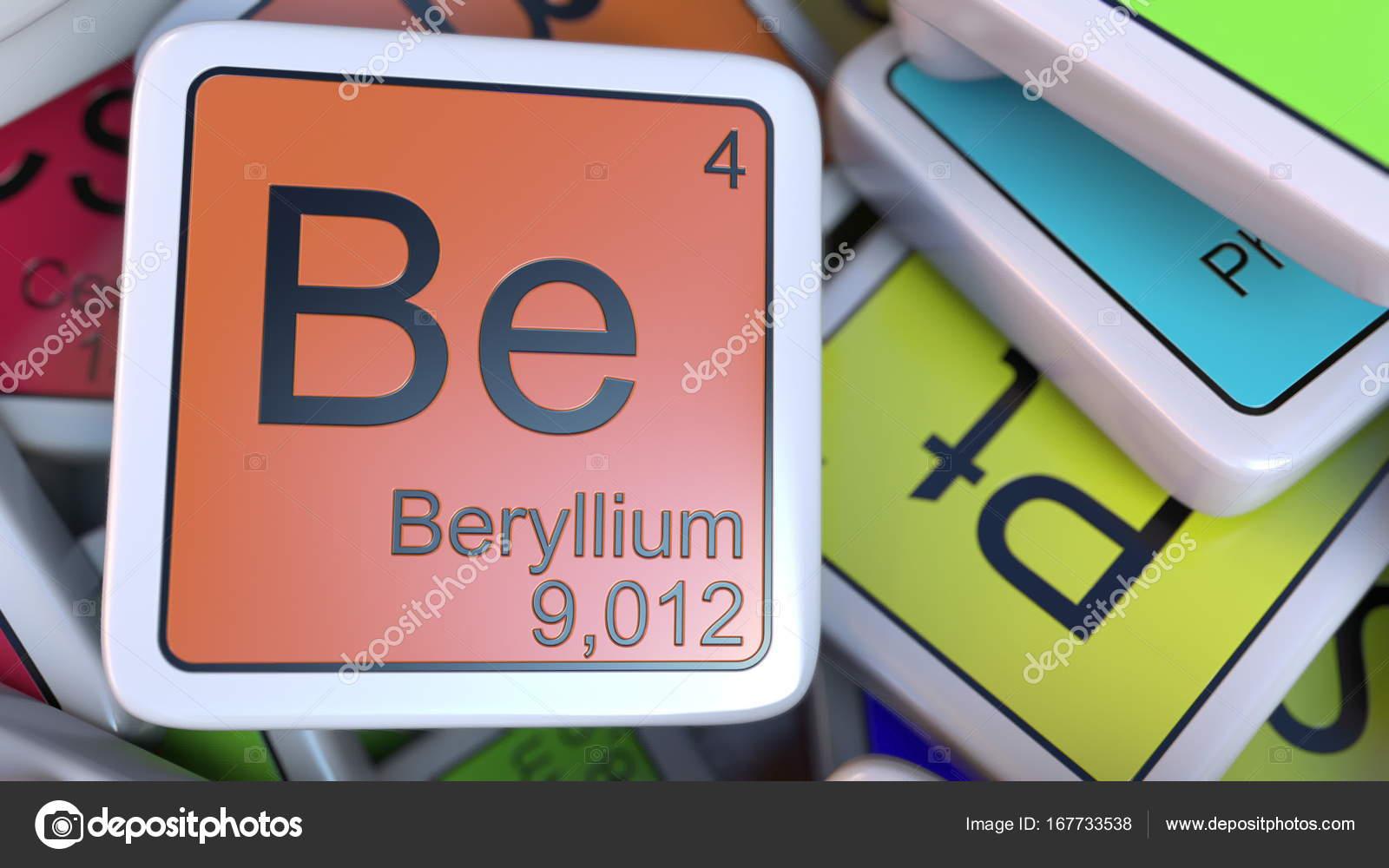 Bloque de berilio en la pila de la tabla peridica de los bloques de berilio de la etiqueta de la pila de la tabla peridica de las etiquetas de elementos qumicos foto de alexeynovikov urtaz Gallery