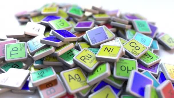 bloque de nen en la pila de la tabla peridica de los bloques de elementos qumicos