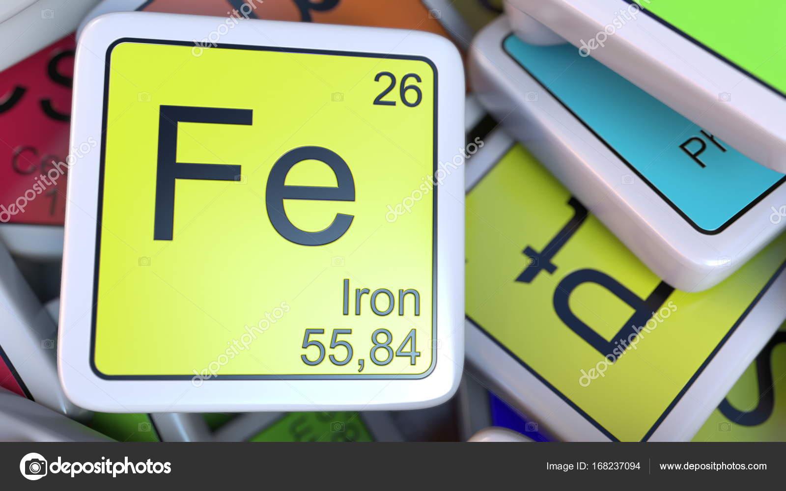 Bloque de la fe en la pila de la tabla peridica de los bloques de hierro de la etiqueta de la pila de la tabla peridica de las etiquetas de elementos qumicos foto de alexeynovikov urtaz Choice Image