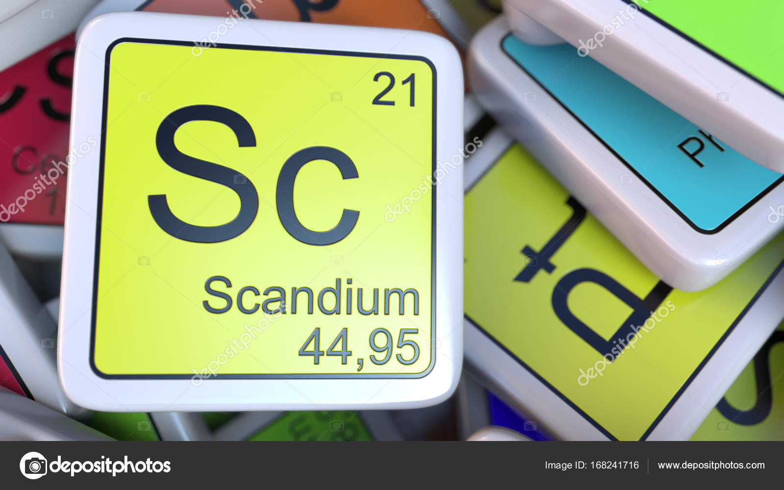 Scandium block on the pile of periodic table of the chemical scandium block on the pile of periodic table of the chemical elements blocks chemistry related gamestrikefo Images