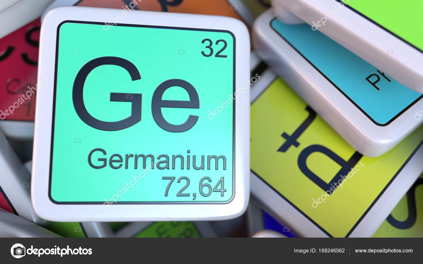 Bloque de ge germanio en la pila de la tabla peridica de los germanio de la etiqueta de la pila de la tabla peridica de las etiquetas de elementos qumicos foto de alexeynovikov urtaz Gallery