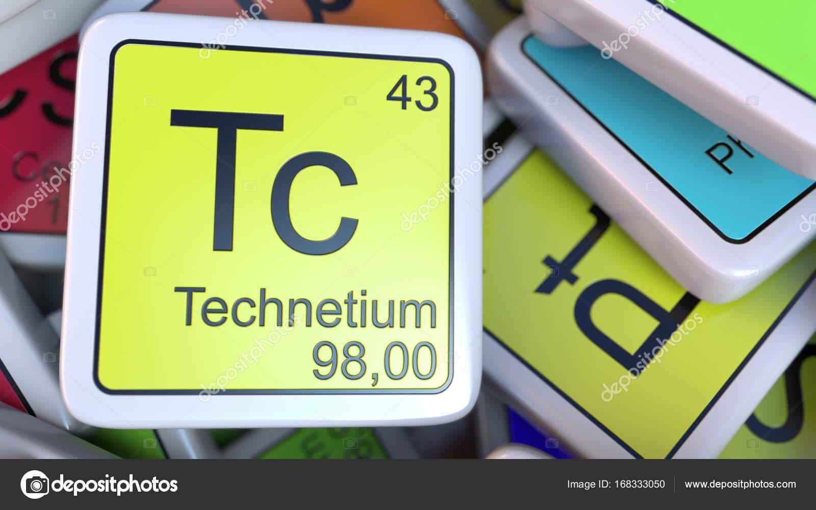 Technetium tc block on the pile of periodic table of the chemical technetium tc block on the pile of periodic table of the chemical elements blocks chemistry urtaz Images