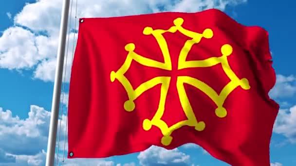 NUEVA EDICIÓN de La promesa del almogávar Depositphotos_171355876-stock-video-waving-flag-of-occitanie-a
